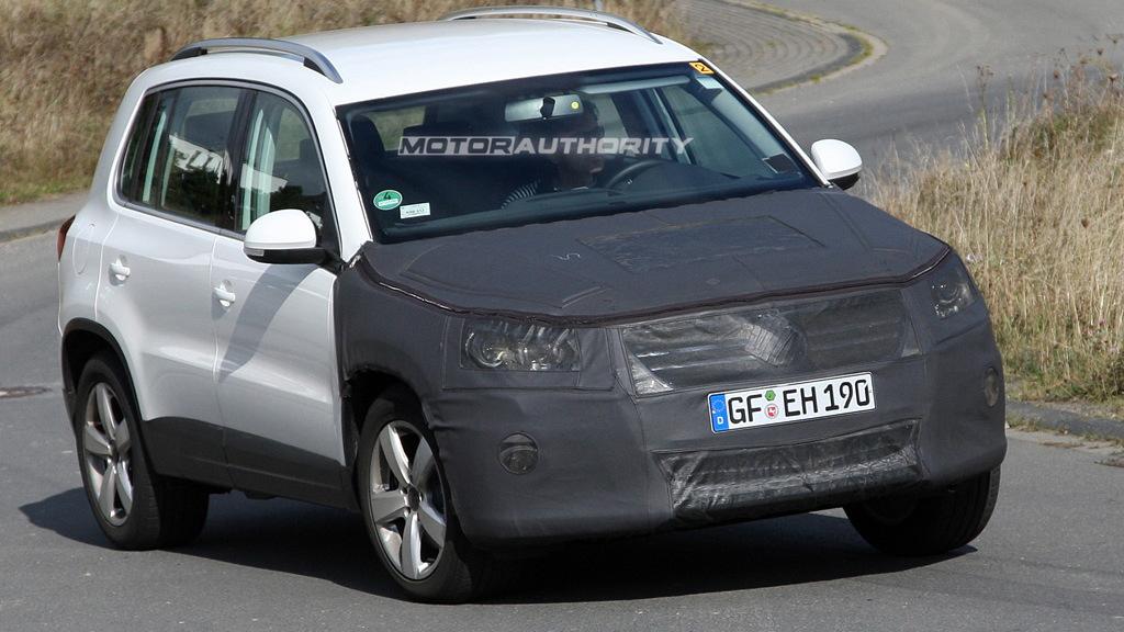 2011 Volkswagen Tiguan facelift spy shots