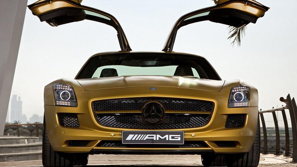 Desert Gold 2010 Mercedes-Benz SLS AMG