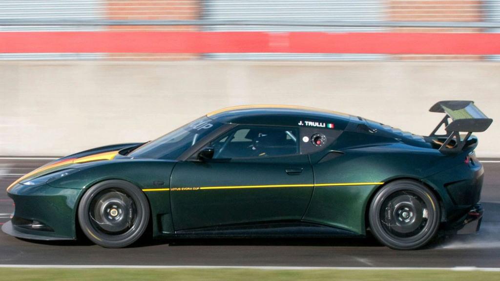 Jarno Trulli testing the Lotus Evora Cup