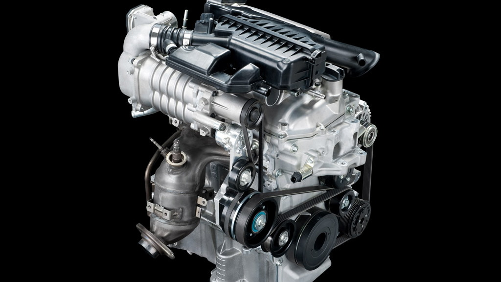 Nissan supercharged and direct-injected three-cylinder engine