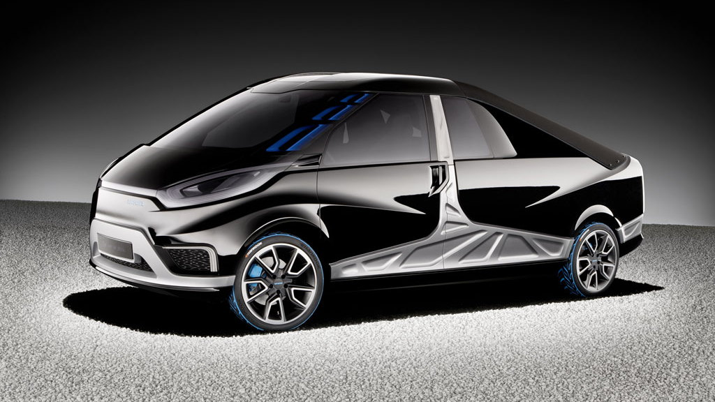 Mercedes-Benz Reporter plug-in hybrid pickup truck concept, from MBtech
