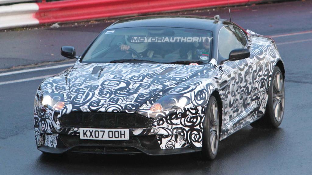 2011 Aston Martin DBS facelift spy shots