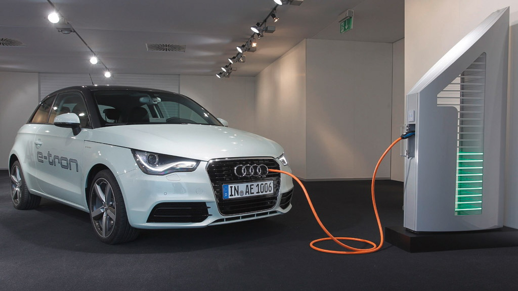Audi solar powered EV charging station