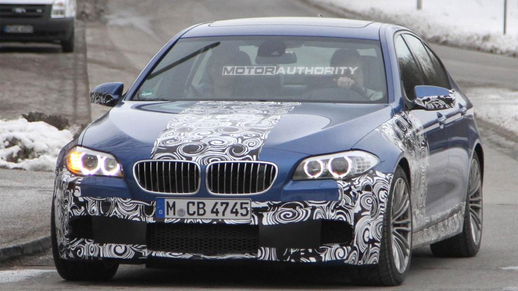 2012 BMW M5 spy shots