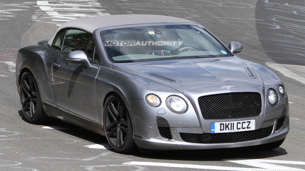 2012 Bentley Continental GTC facelift spy shots