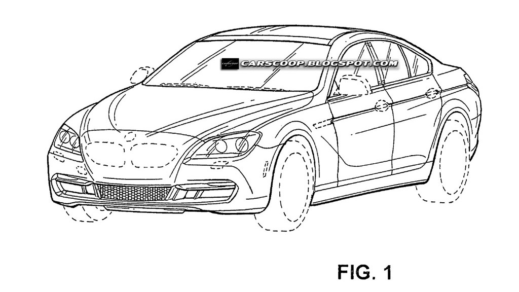 BMW 6-Series Gran Coupe official patent leaked