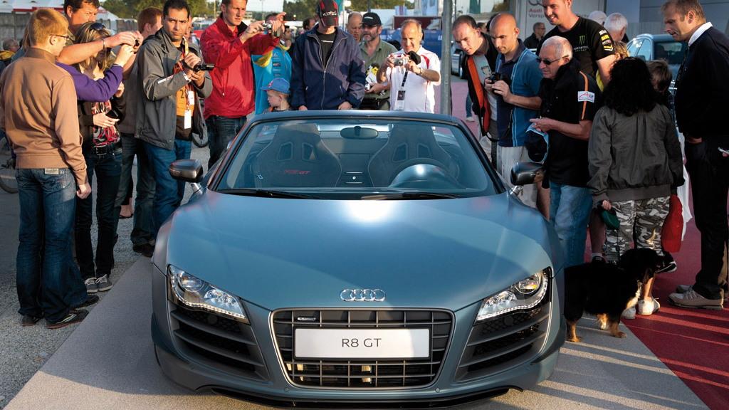 Audi R8 GT Spyder live photos