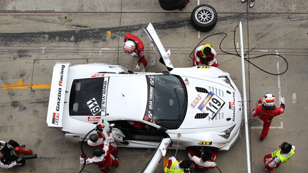 Lexus LFA race car at the Nurburgring