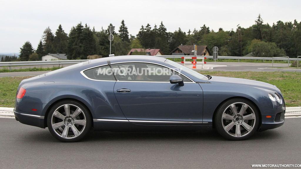 2012 Bentley Continental GT Speed facelift spy shots
