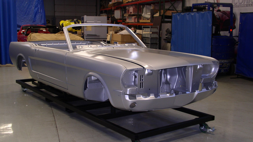 Ford-approved 1965 Mustang Convertible restoration body shell