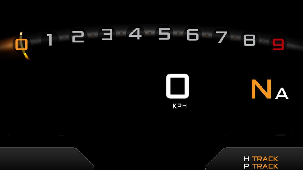 McLaren P1 digital gauge cluster