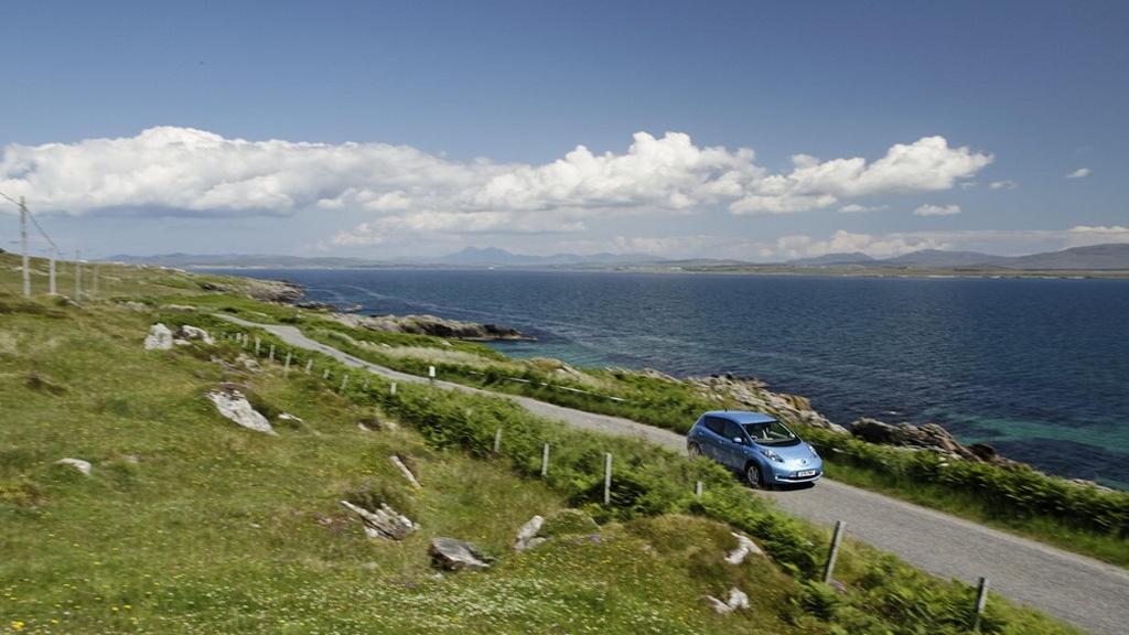 Nissan Leaf in Scotland