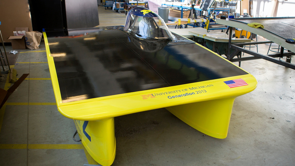 University of Michigan's World Solar Challenge car (Photo: Flickr user Michigan Engineering)