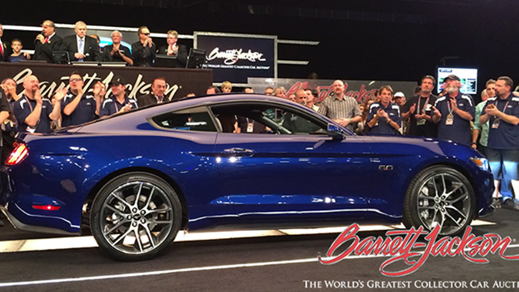 Auction of the first 2015 Ford Mustang GT - Image via Barrett-Jackson