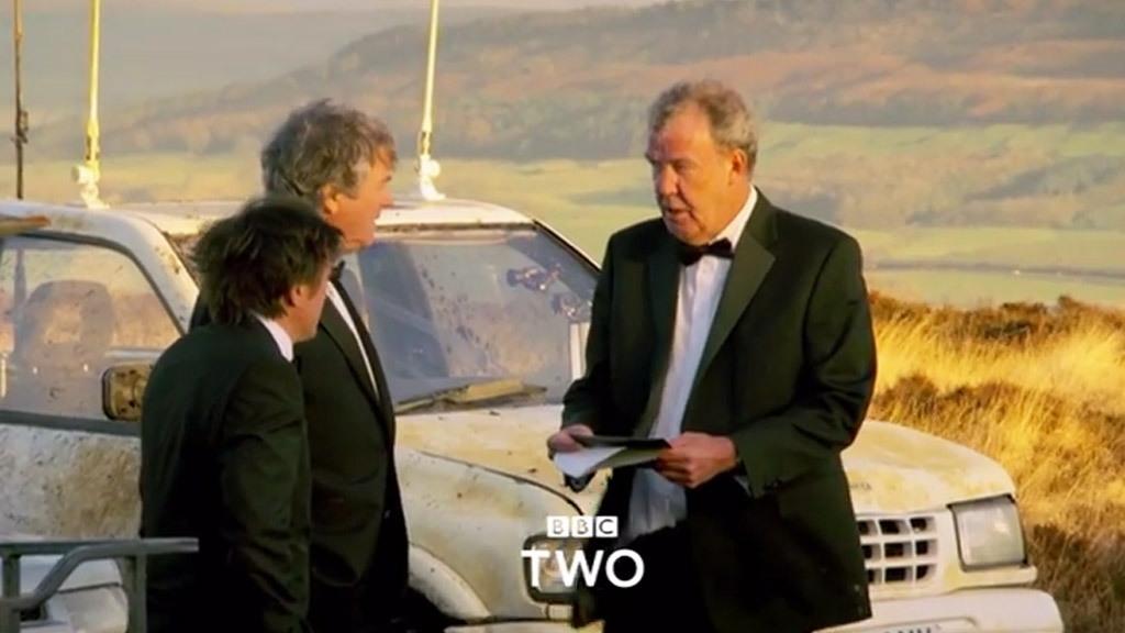 Scene from the final 'Top Gear' episode starring Jeremy Clarkson