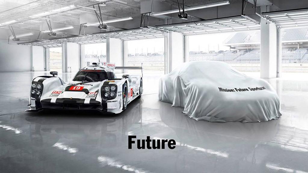Porsche future sports car Facebook post