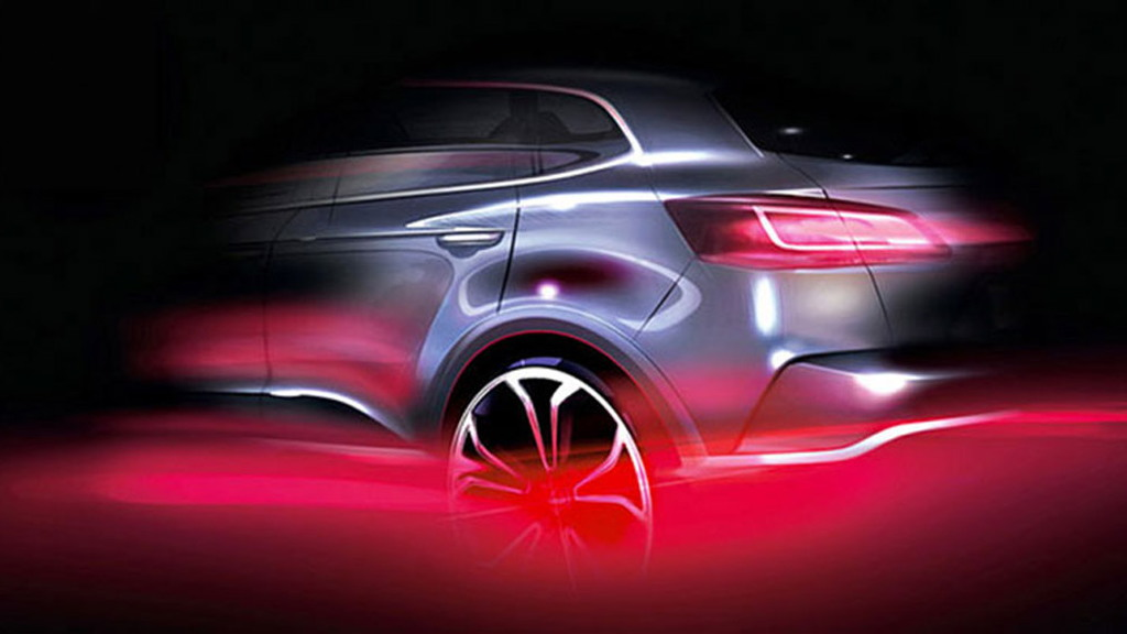 Teaser for new Borgward SUV debuting at 2015 Frankfurt Auto Show