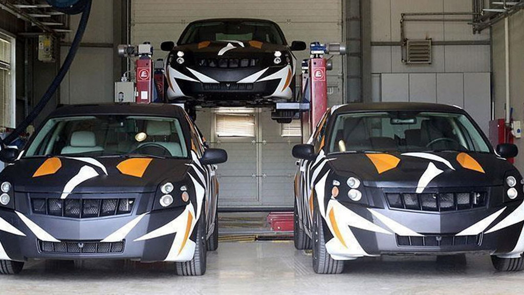 Saab 9-3-based development mules for Turkish national car project