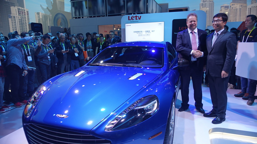 Aston Martin Rapide S with Letv's Internet of the Vehicle system - 2016 Consumer Electronics Show