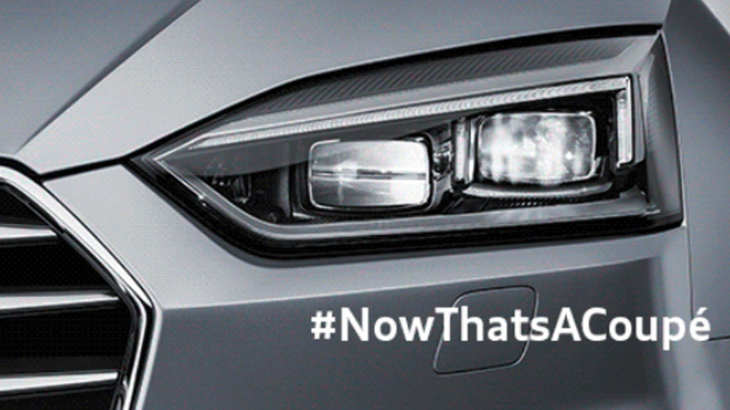 Teaser for 2018 Audi A5 debuting on June 2, 2016