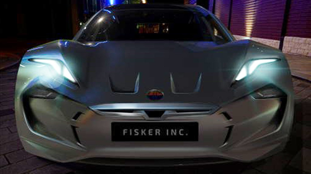 Teaser for Fisker electric sedan