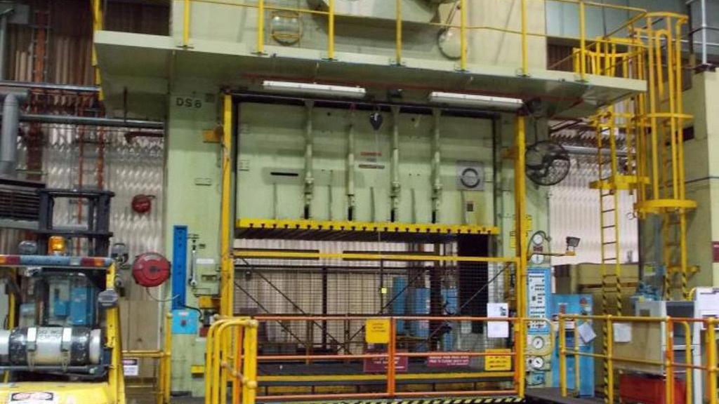 Spotting press at Holden vehicle plant in Elizabeth, South Australia
