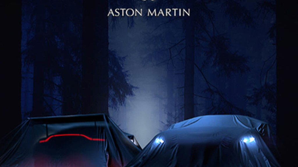 Teaser for 2019 Aston Martin Vantage debuting on November 21, 2017