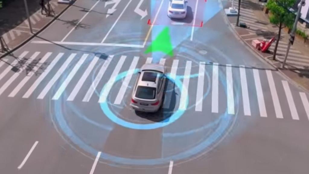 BMW self-driving car demonstration