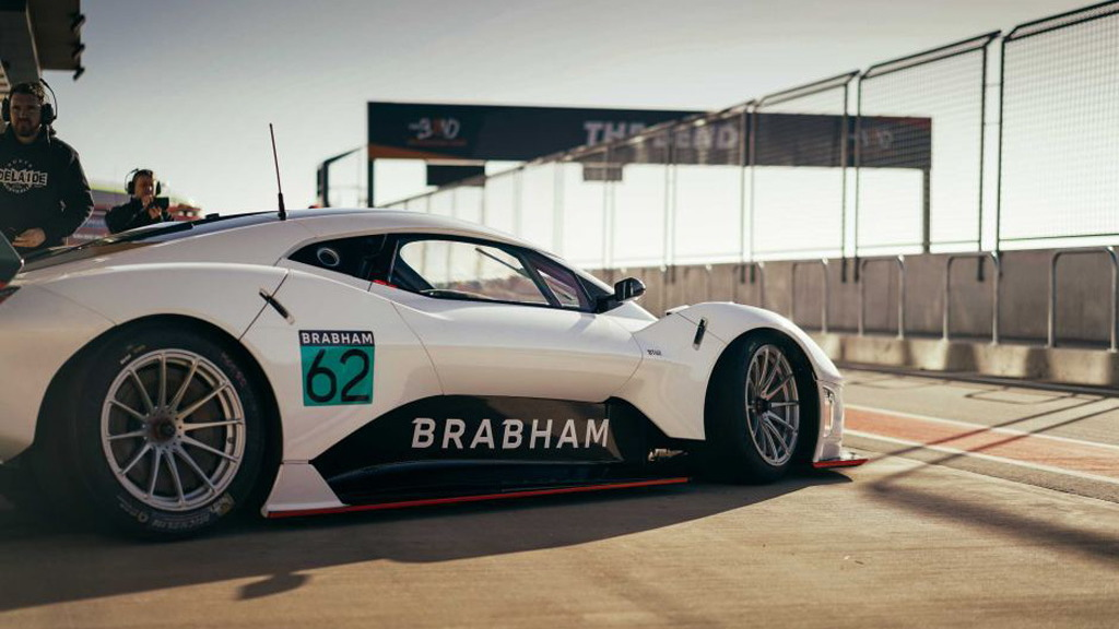 Brabham BT62 testing at The Bend Motorsport Park in Tailem Bend, Australia