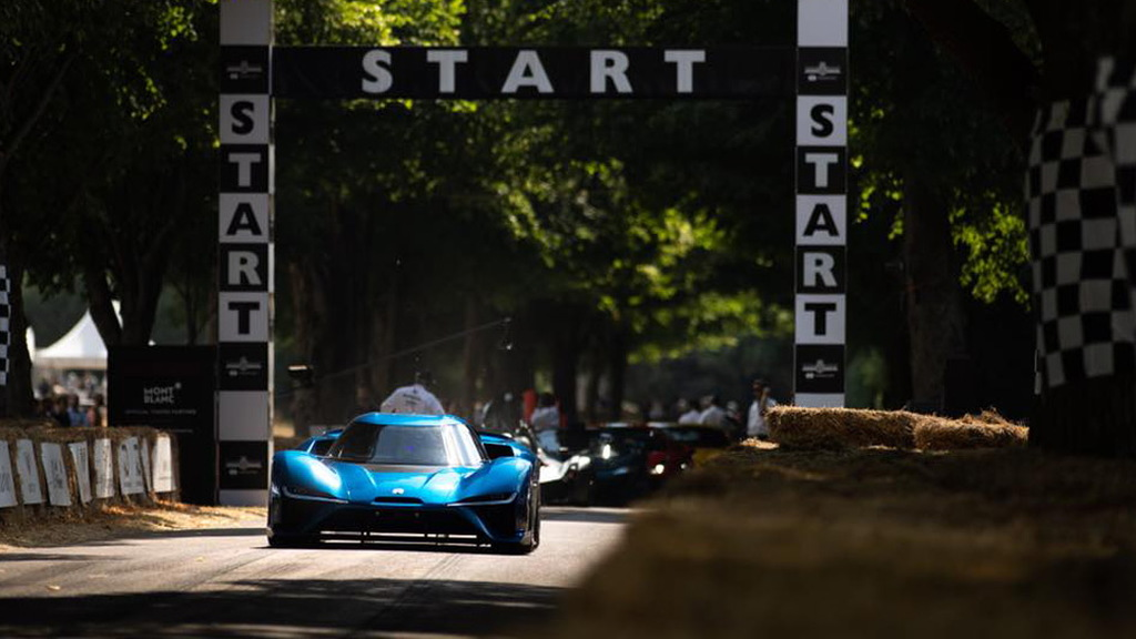 Nio EP9 at the 2018 Goodwood Festival of Speed