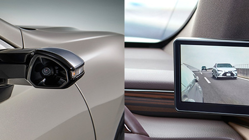 2019 Lexus ES in Japan replaces side mirrors with cameras