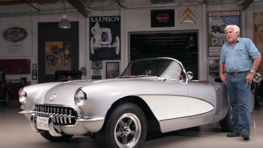 Jay Leno and his 1957 Chevrolet Corvette