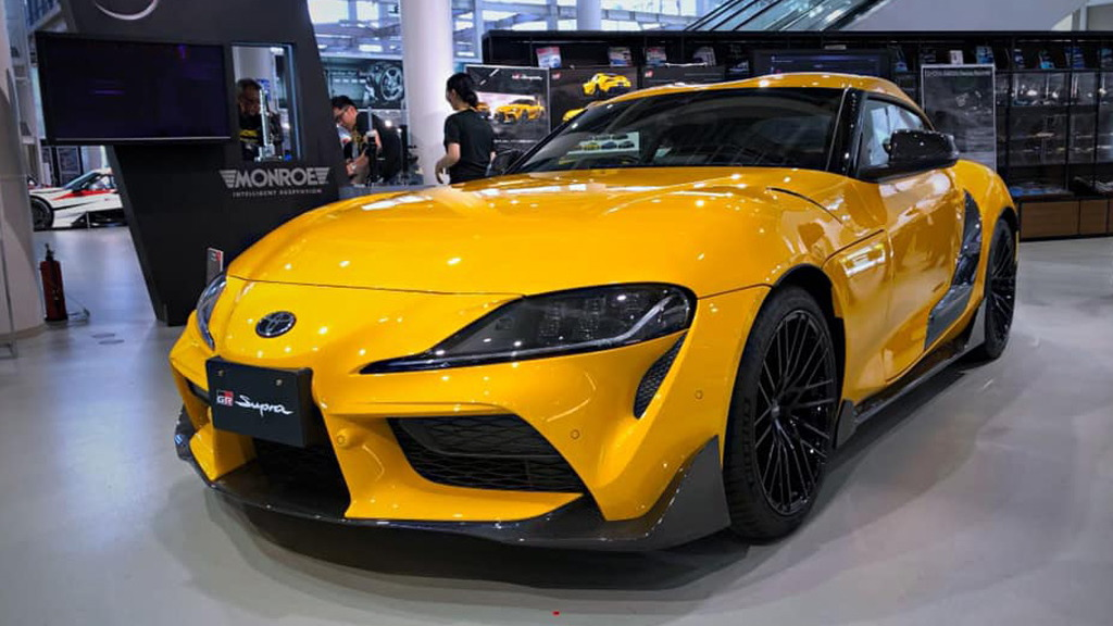 2020 Toyota Supra with TRD parts