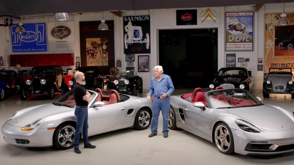 Jay Leno and the Porsche Boxster - video
