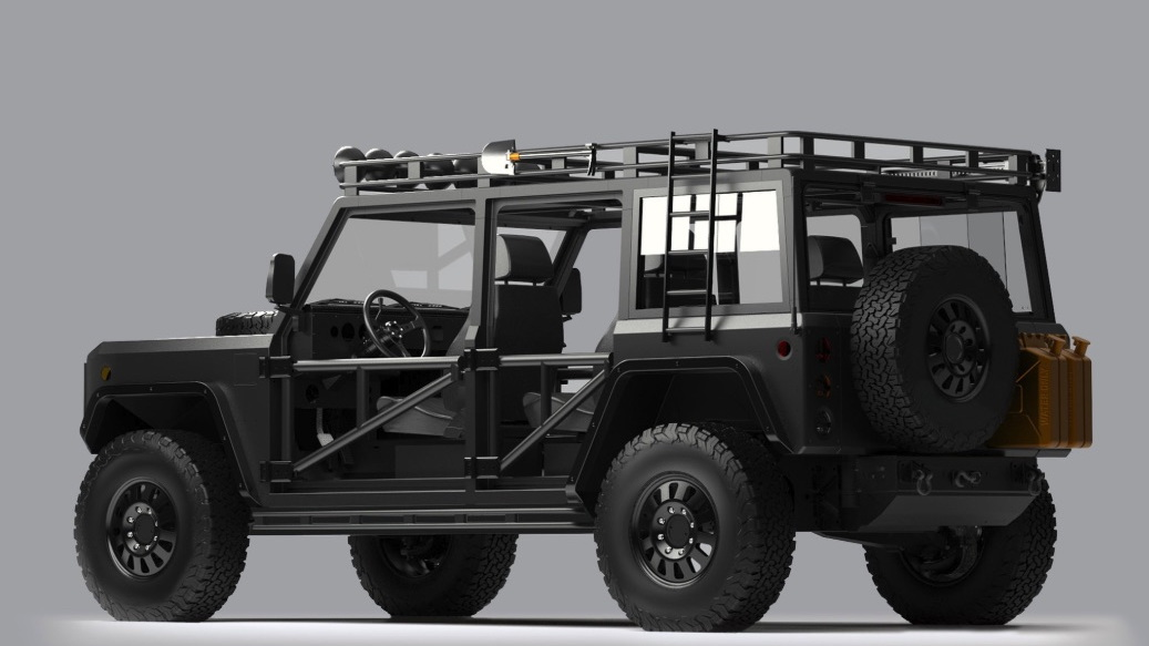 Bollinger B1 rendering with modifications