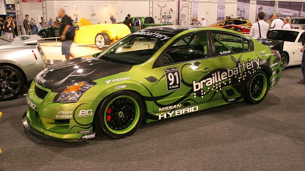 Braille Battery Nissan Altima Hybrid race car