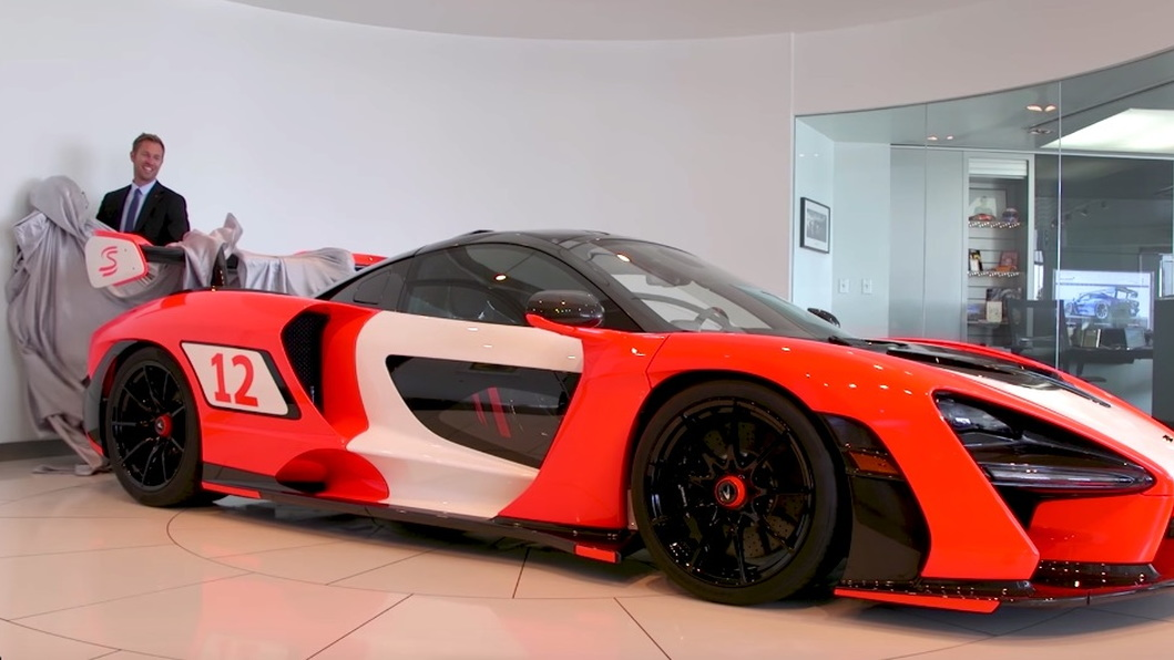 McLaren Senna with Ayrton Senna's F1 livery colors