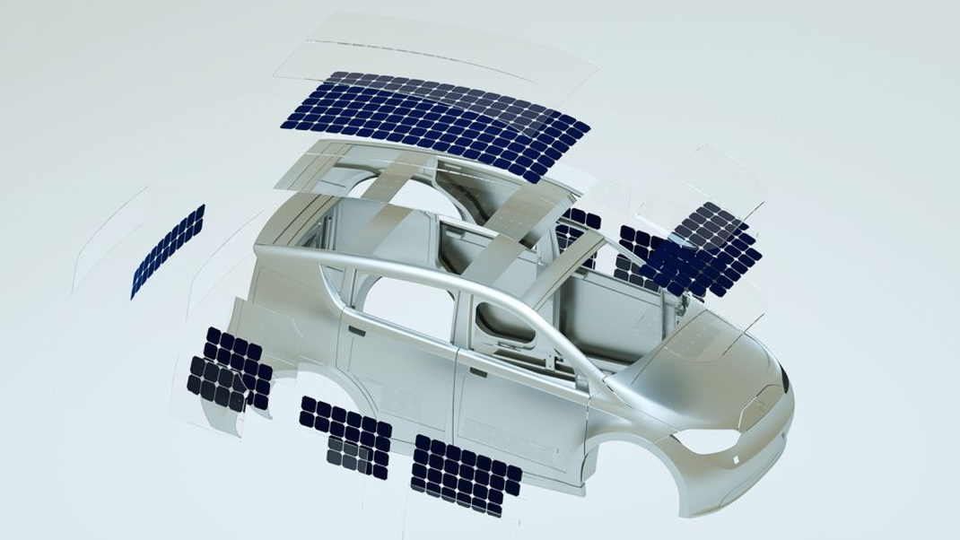 Sono Sion solar charged electric car solar panels