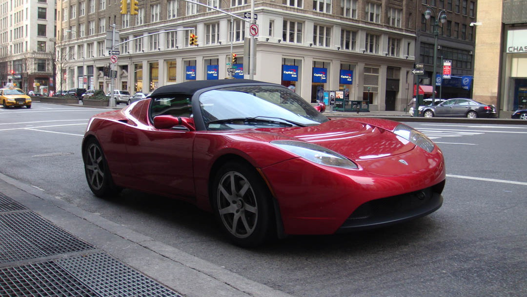 Tesla Roadster NYC