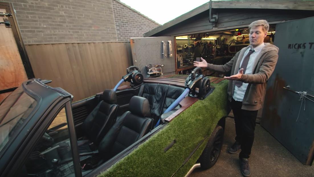Colin Furze turned a BMW 325i into a hot tub