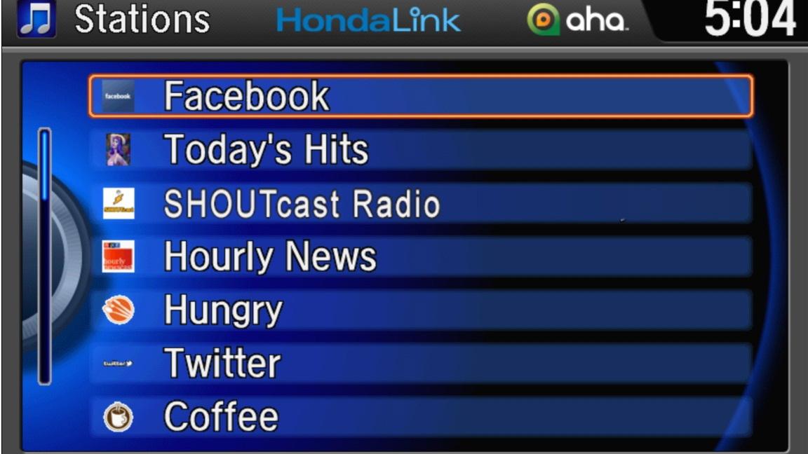 HondaLink screen