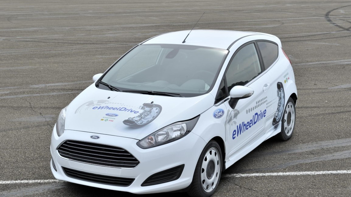 Ford and Schaeffler eWheelDrive electric Fiesta prototype