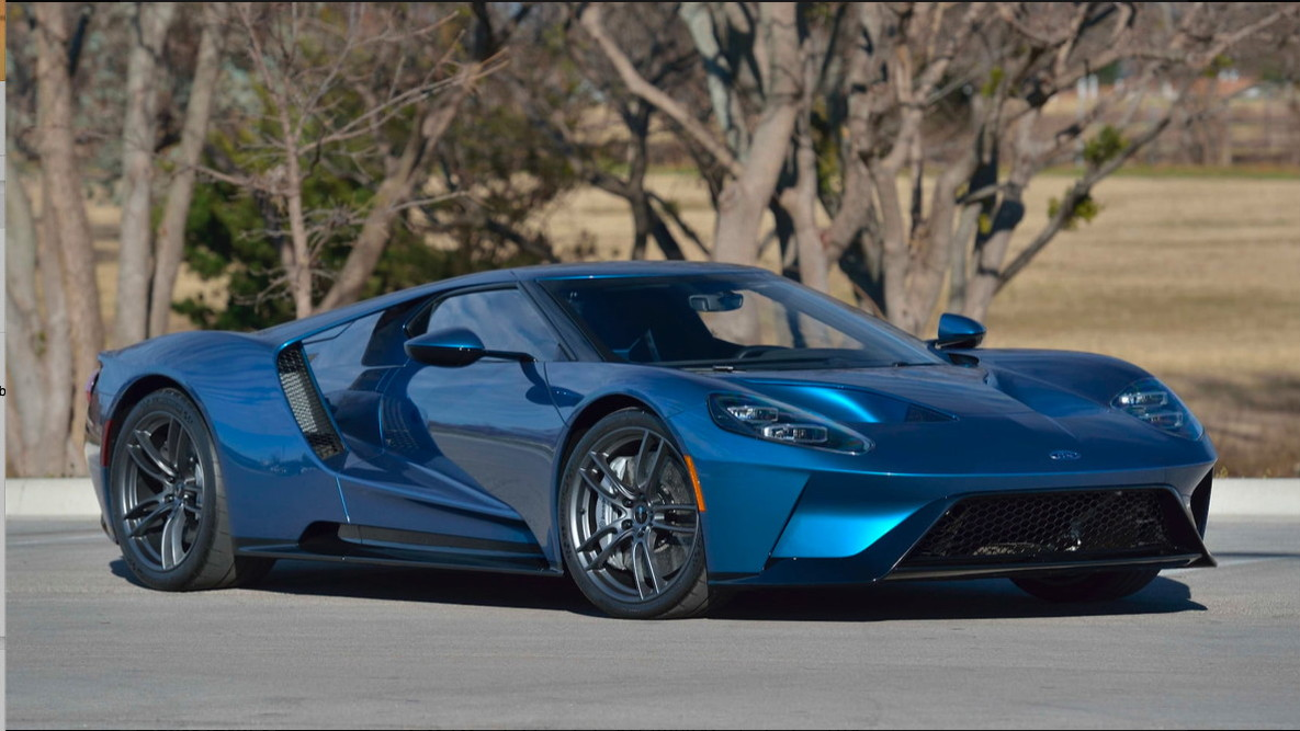 2017 Ford GT originally commissioned by John Cena - Image via Mecum Auctions