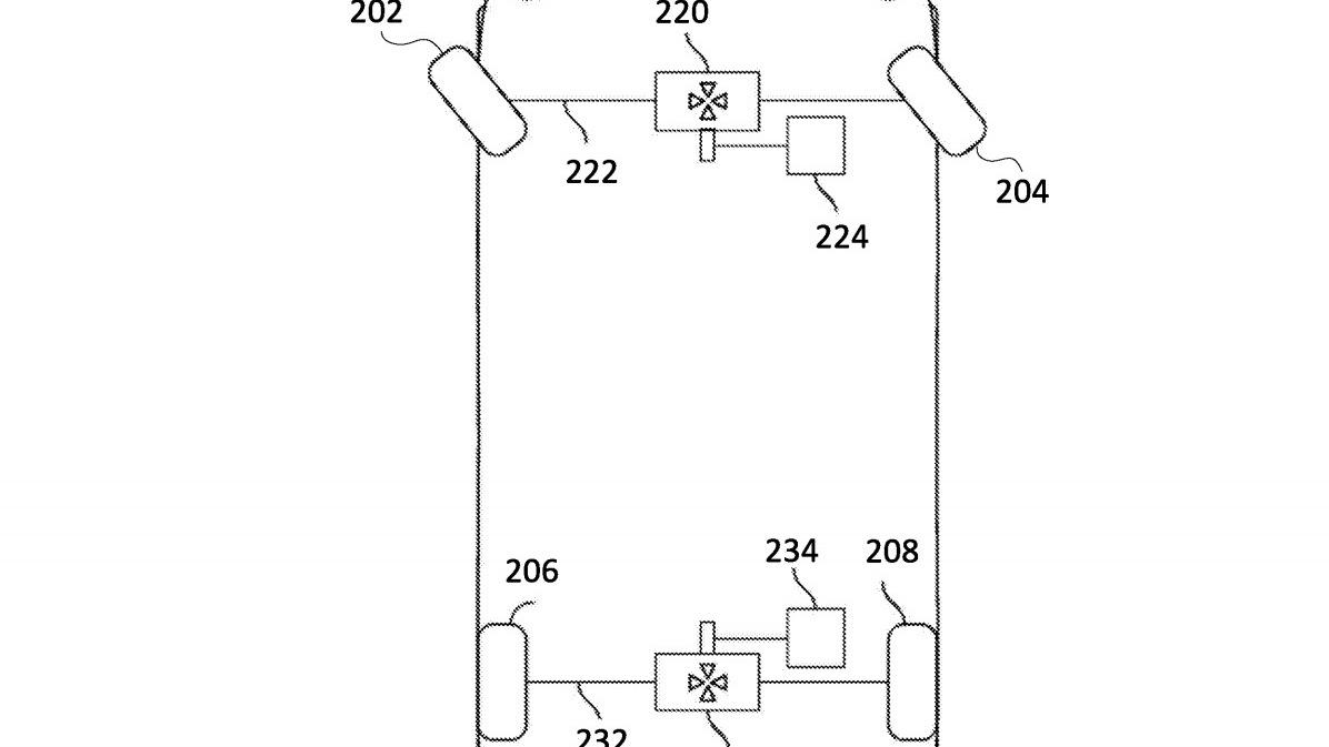"""Rivian """"K-Turn Mode"""" patent image"""