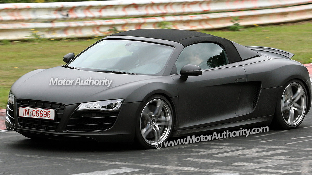 audi r8 spider spy shots nurburgring 003