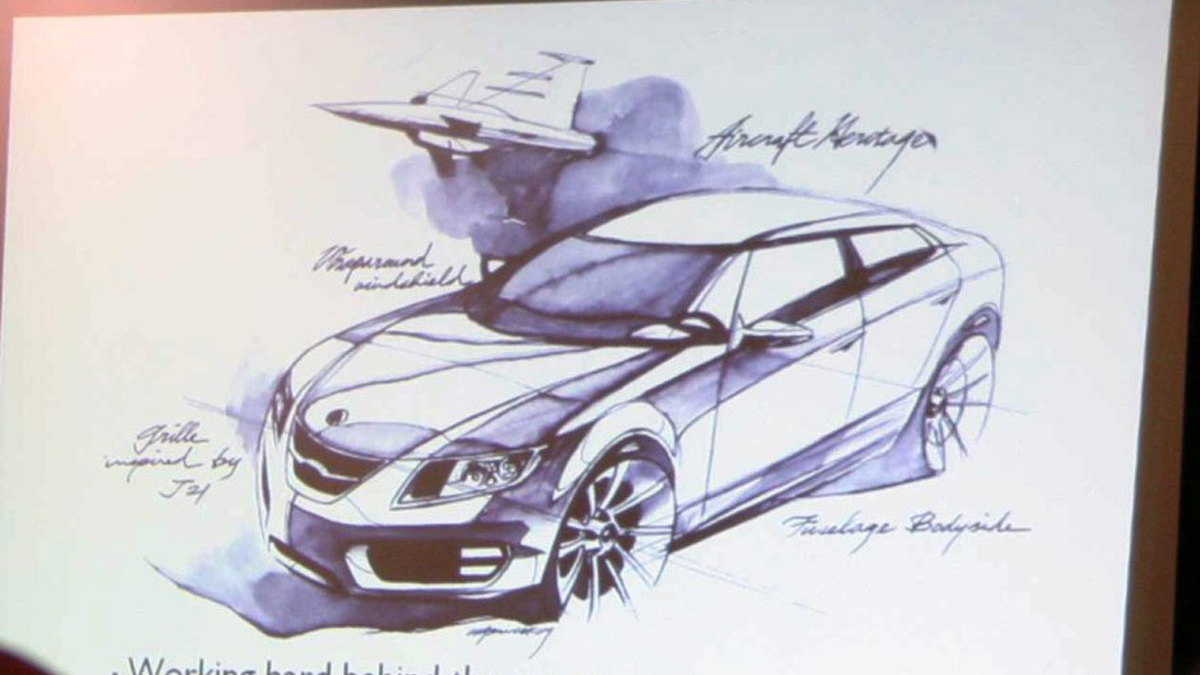 saab 9 5 next gen sketch motorauthority 001