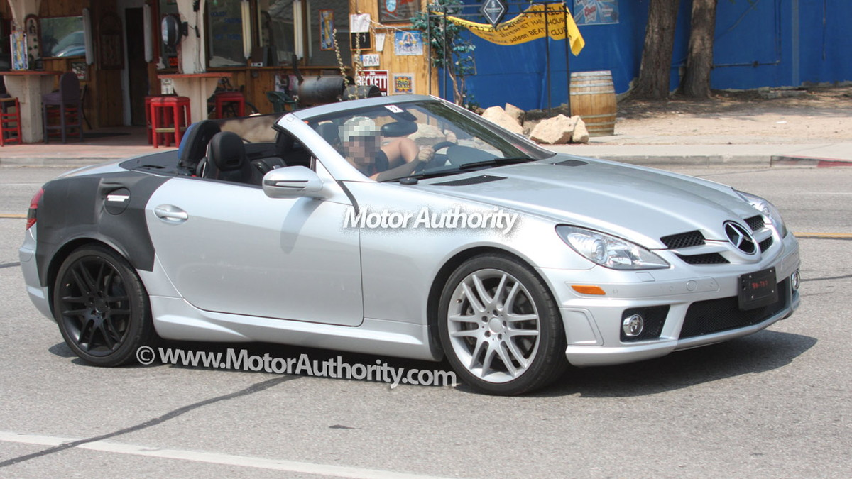 mystery mercedes benz slk spy shots 002