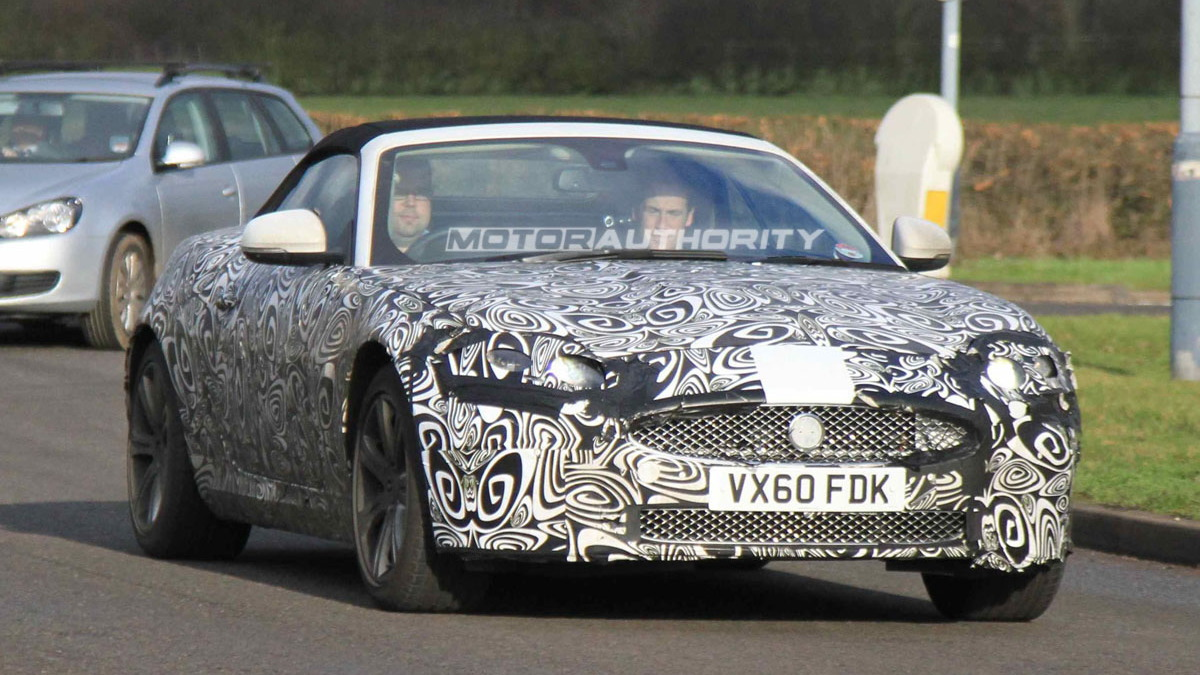 2013 Jaguar XK Convertible spy shots