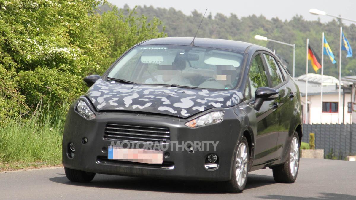 2014 Ford Fiesta Sedan spy shots