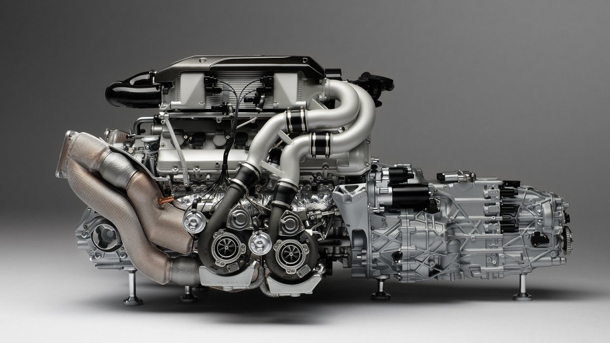 Bugatti Chiron Scale Engine and Gearbox